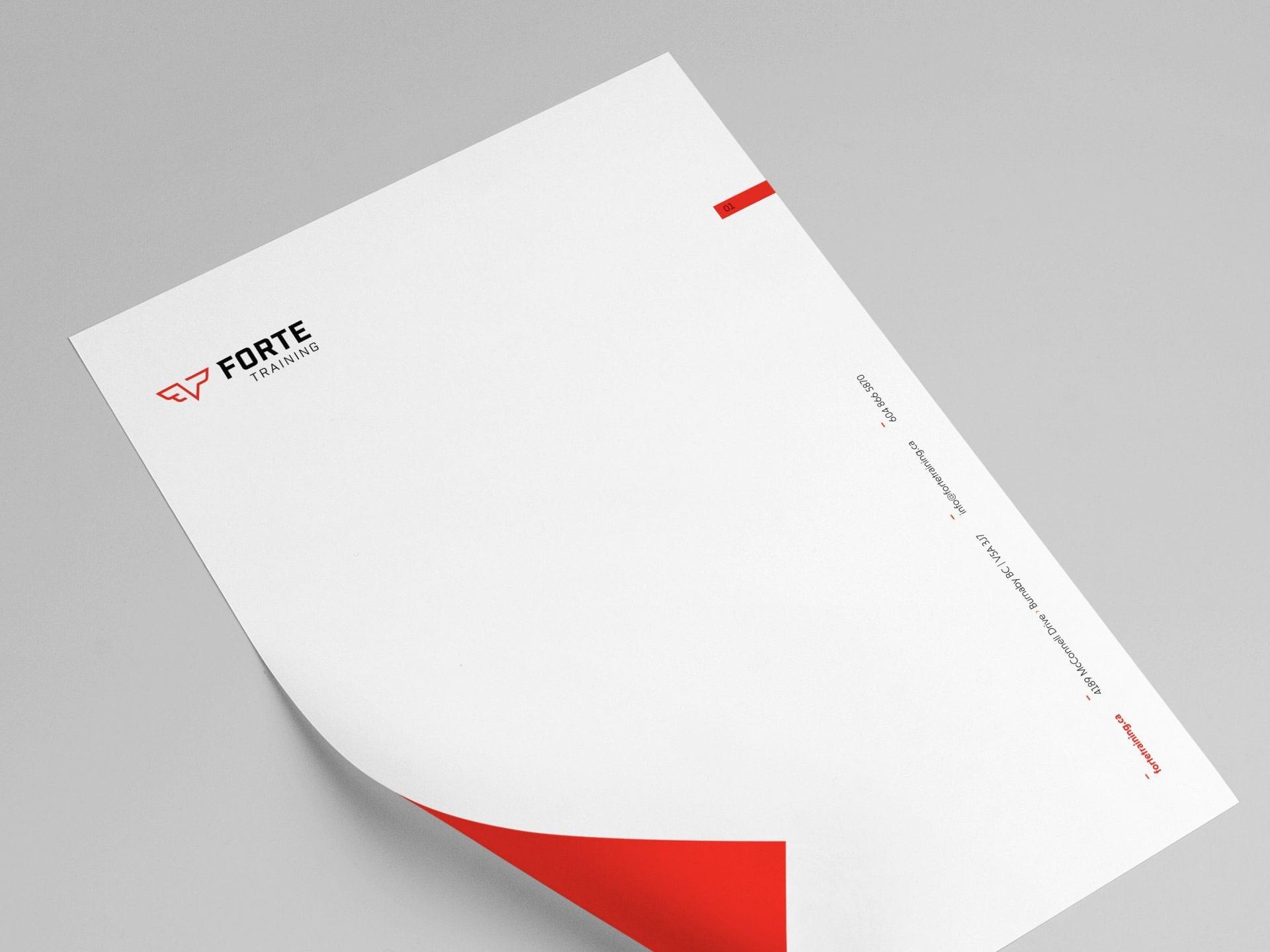 Y5 Creative Case Studies Forte Training 2019 Letterhead